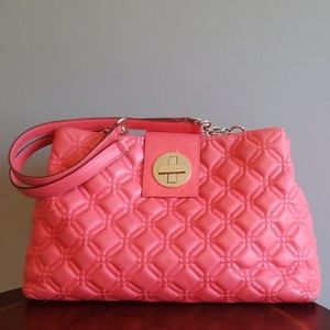 Kate Spade coral quilted bag